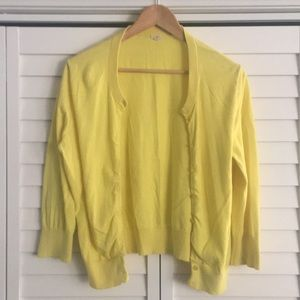 J Crew yellow button front cardigan